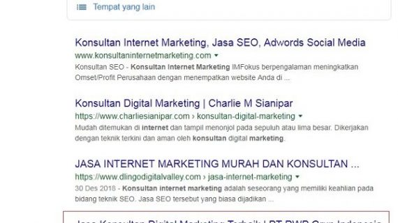 Kata Kunci Konsultan internet marketing
